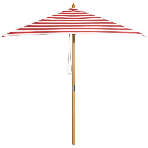 2m Red & White Striped Monte Carlo Market Umbrella
