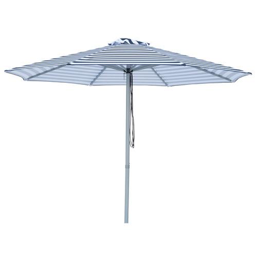 Billy Fresh 3m Navy & White Striped Santorini Market Umbrella