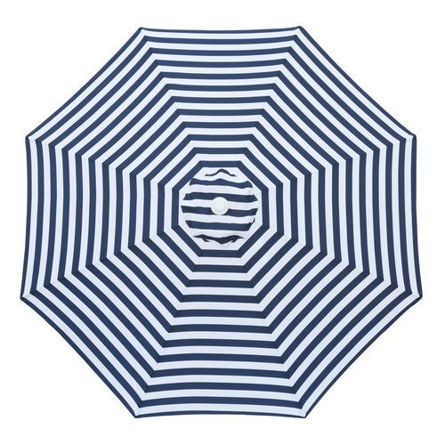 3m Navy & White Striped Santorini Market Umbrella