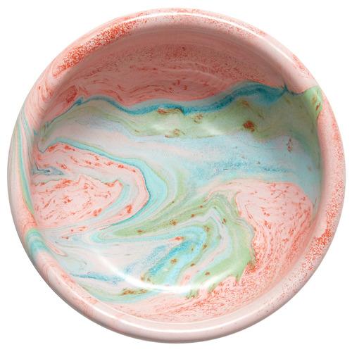 Bornn Blush Marble 14cm Enamel Serving Bowl