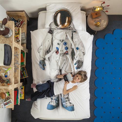 Snurk Astronaut Cotton Quilt Cover Set