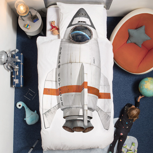 Snurk Rocket Cotton Quilt Cover Set