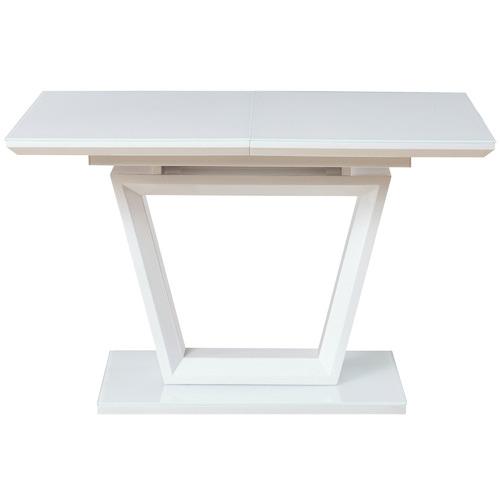 Keys Road Designs Fenda Glass-Top Extendable Dining Table