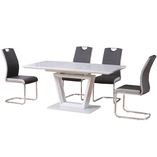 Keys Road Designs Fenda Glass Extension Dining Table