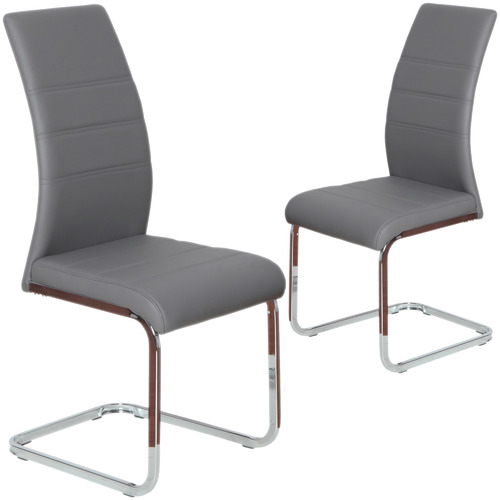 Keys Road Designs Salma Faux Leather Dining Chairs