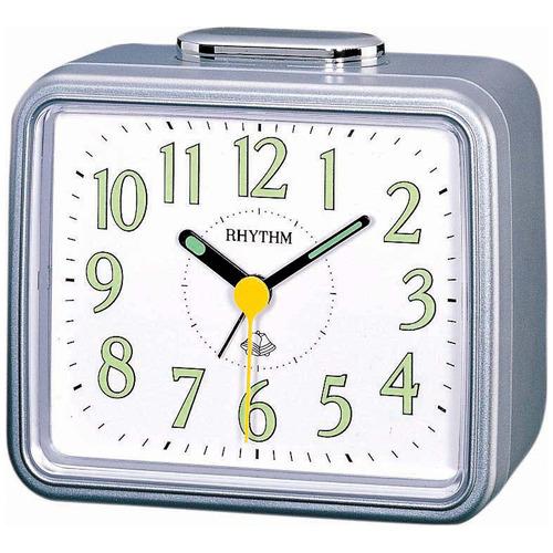 Rhythm Metallic Quartz Alarm Clock