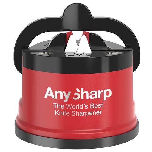 Red & Black Pro Metal Knife Sharpener
