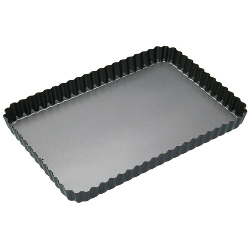 MasterPro Loose Base 32cm Fluted Rectangular Quiche Tin