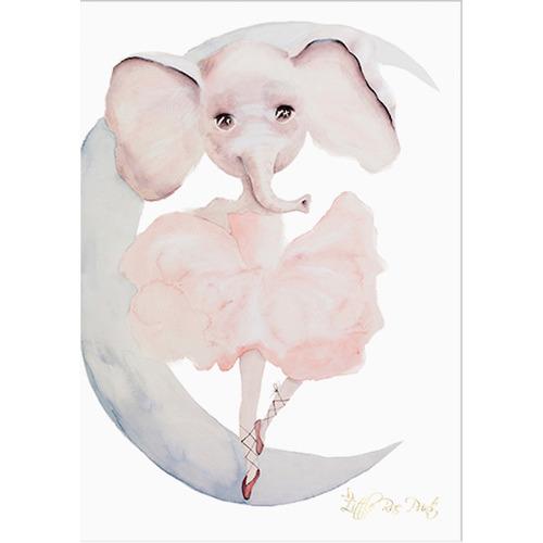 Little Rae Prints Ever Elephant Unframed Paper Print