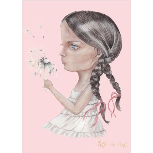 Little Rae Prints Dandelion Kiss Unframed Paper Print