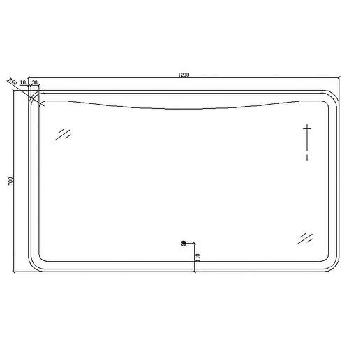 Belbagno Caloocan Rectangular LED Bathroom Wall Mirror