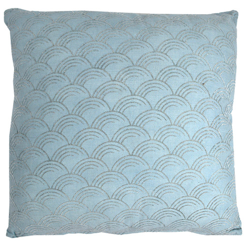 Hub Living Pale Blue Mai Cotton Cushion
