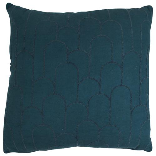 Hub Living Steel Blue Mia Cotton Cushion