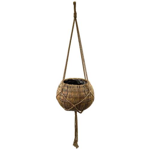 Hub Living 71cm Ball Rattan Hanging Basket