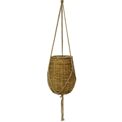 Hub Living 67cm Bulb Rattan Hanging Basket