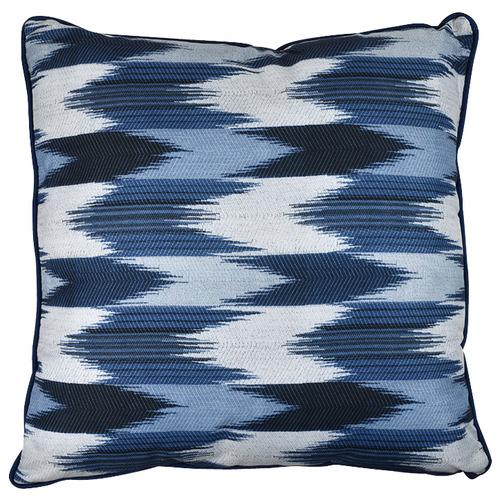 Hub Living White & Blue Ebb Alfresco Cushion