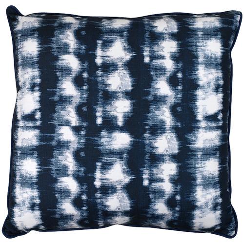 Hub Living White & Blue Jetty Alfresco Cushion