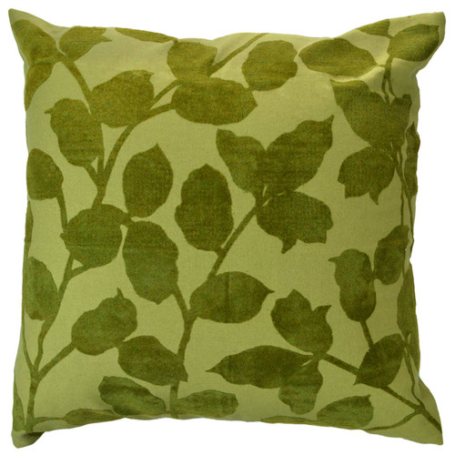Hub Living Flocked Leaf Cotton Cushion