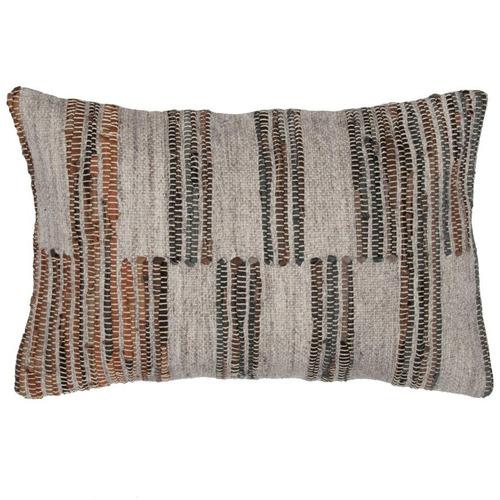 The Home Collective Brown Aryan Rectangular Cushion