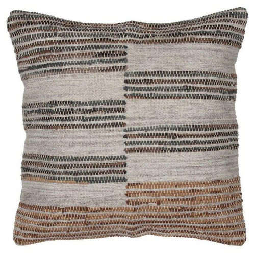 The Home Collective Brown Aryan Square Cushion