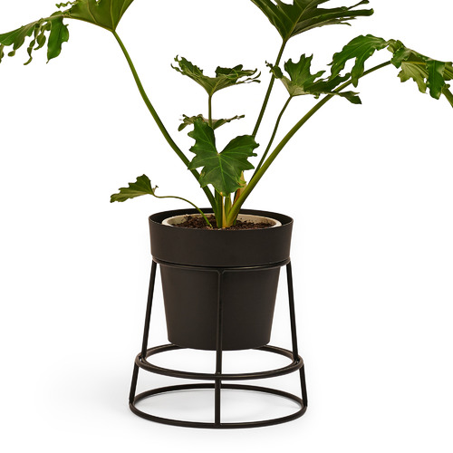 Bendo Double Sided Metal Plant Stand with Pot