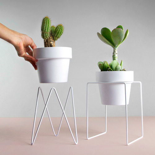 Sprout Metal Plant Stand with Pot