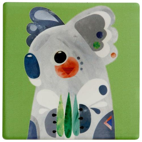 Koala by Pete Cromer Ceramic Coasters