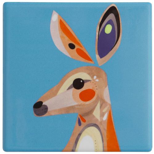 Kangaroo by Pete Cromer Ceramic Coasters