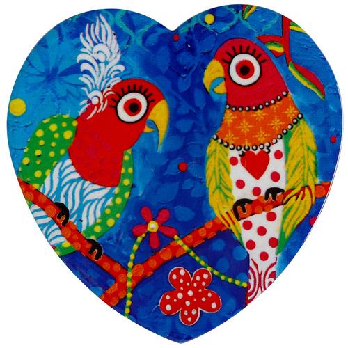 Rainbow Girls Love Hearts Ceramic Coasters
