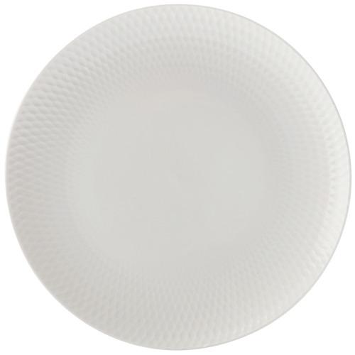 White Basics Diamonds 23cm Porcelain Entree Plates