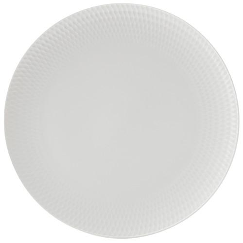 White Basics Diamonds 27cm Porcelain Dinner Plates