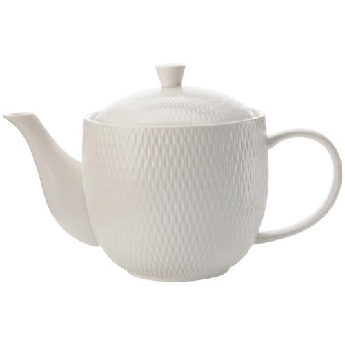 White Basics Diamonds 800ml Porcelain Teapot
