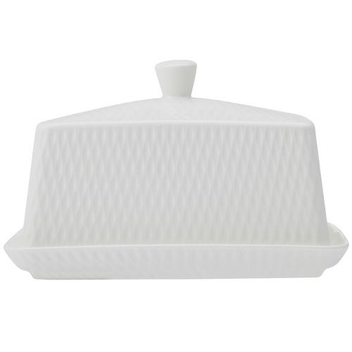 Maxwell & Williams White Basics Diamonds Porcelain Butter Dish