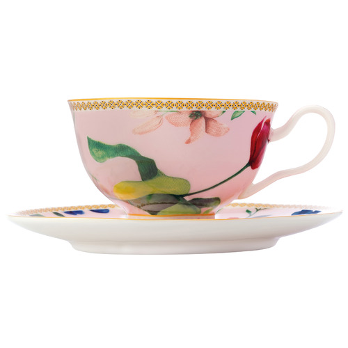 Maxwell & Williams Rose Teas & C's Contessa 200ml Footed Cup & Saucer Set