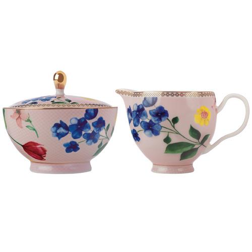 Maxwell & Williams Rose Teas & C's Contessa Porcelain Sugar & Creamer Jar Set
