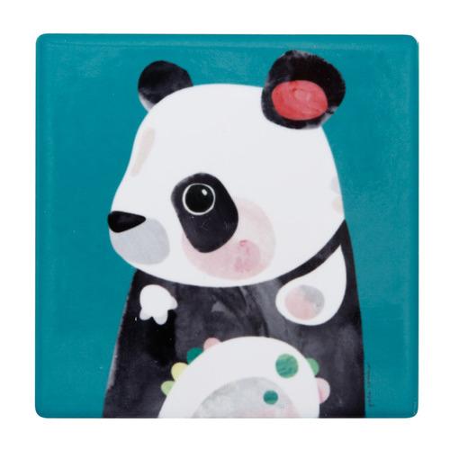 Panda Pete Cromer Wildlife Square Ceramic Coasters