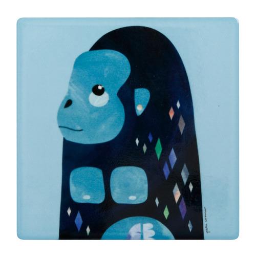 Gorilla Pete Cromer Wildlife Square Ceramic Coasters