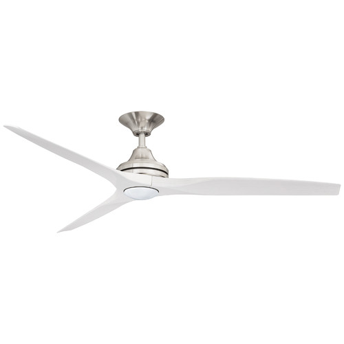 Three Sixty Fans Brushed Nickel Spitfire Ceiling Fan with LED