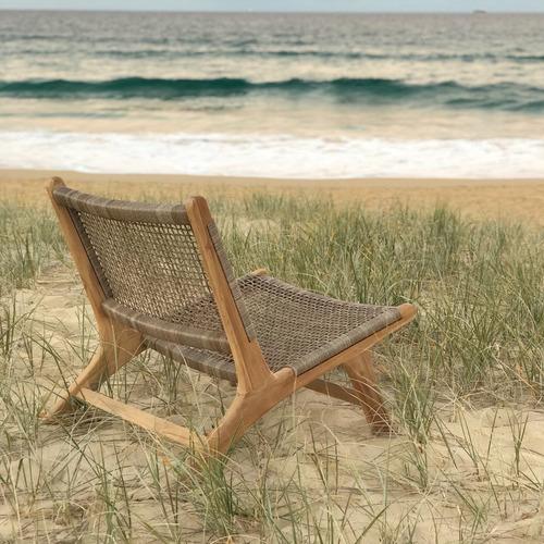 Avalon Home Zenya Teak & PE Wicker Outdoor Accent Chair