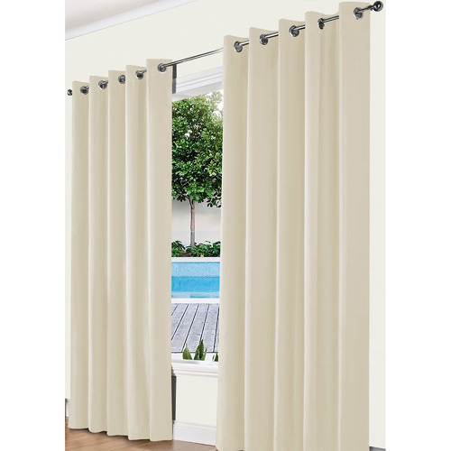 Odyssey Fabrics Stone Alyssa Eyelet Blockout Curtains