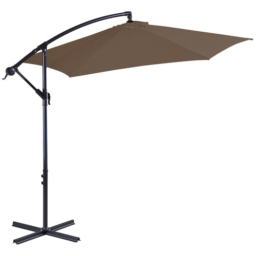 3m Latte Sawyer Cantilever Umbrella with Cover