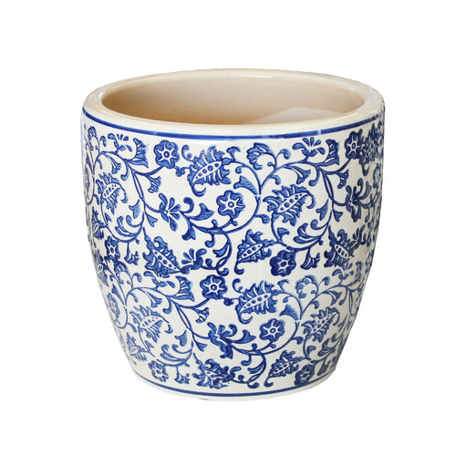 35m Blue Tang High Fire Clay Egg Pot