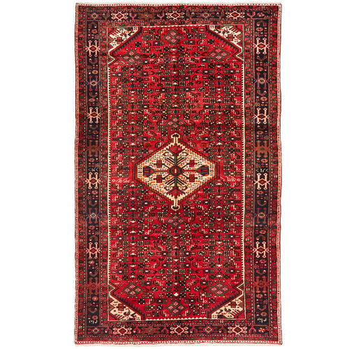 The Handmade Collection Red & Navy Wool Hosseinabad Rug
