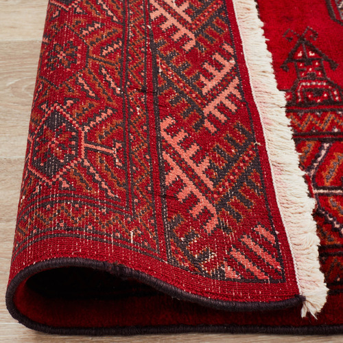 The Handmade Collection Red Wool Persian Torkaman Rug
