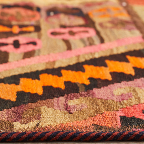 The Handmade Collection Multi-Coloured Abstract Wool Persian Patchwork Rug