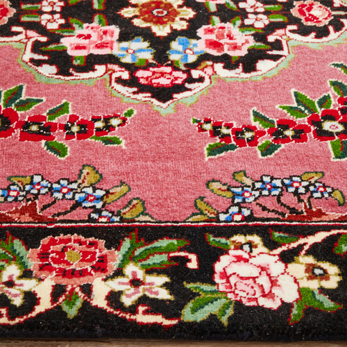 The Handmade Collection 393 x 88cm Persian Hand-Knotted Wool Tabriz Runner