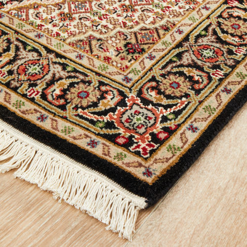 The Handmade Collection 492 x 76cm Persian Hand-Knotted Wool Mahi Runner
