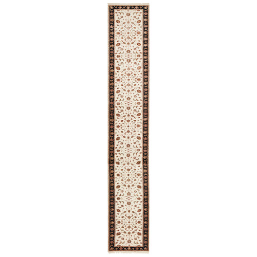 The Handmade Collection 615 x 81cm Persian Hand-Knotted Wool Narayan Runner