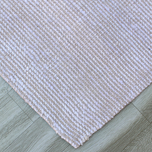 Haven Rugs Ivory Lizban Hand-Woven Viscose Rug