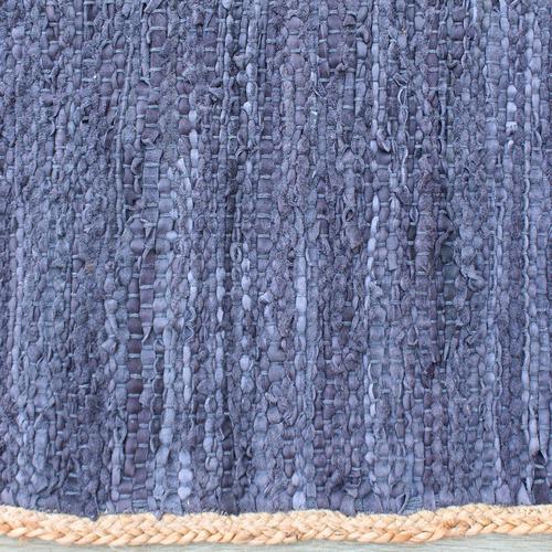 Haven Rugs Blue Jacmel Leather & Hemp Rug